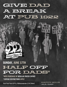 Father's Day 2018 at Pub 1922